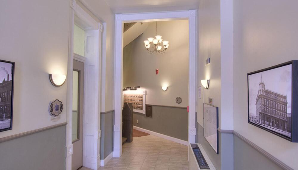 tabor building hallway